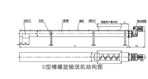 水泥螺旋输送机的结构图