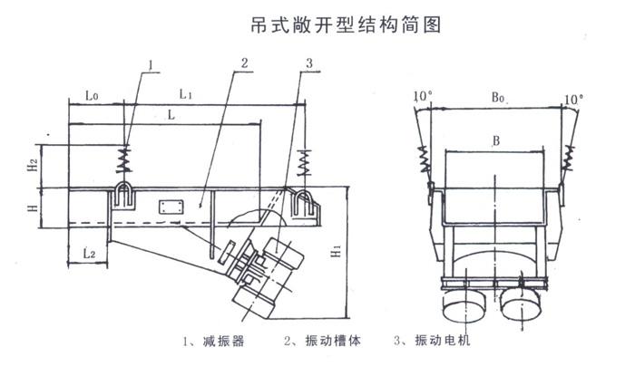 吊挂敞开型结构简图