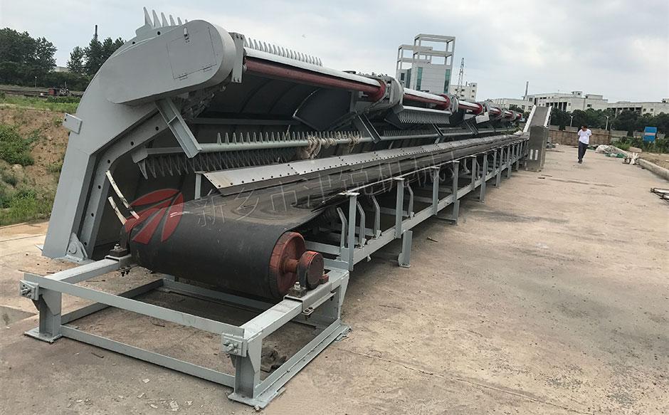 江蘇常州污泥處理系統皮帶輸送機安裝現場