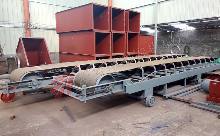 西安客户定做的2条可逆配仓皮带输送机
