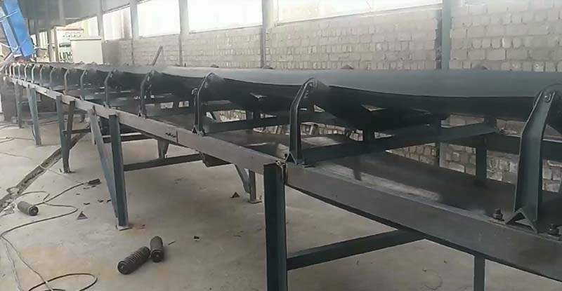 内蒙古客户返单定做的耐寒皮带输送机
