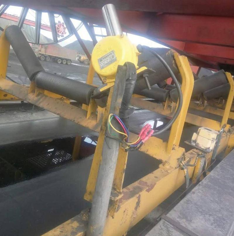 皮带输送机跑偏开关选型与安装