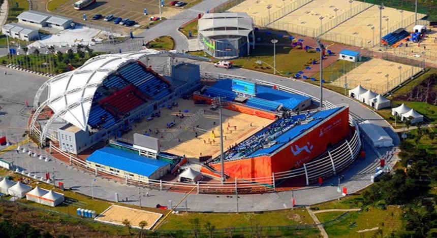 沙滩排球场膜结构看台