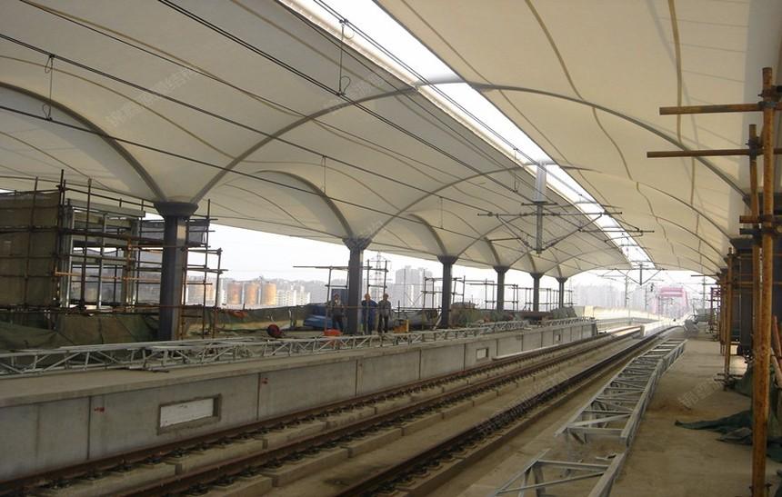 上海车站膜结构车棚