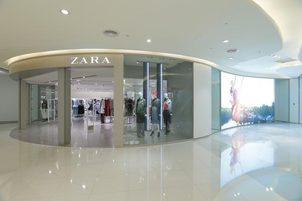 北台首例! ZARA、H&M同百货开幕(图/ZARA提供)