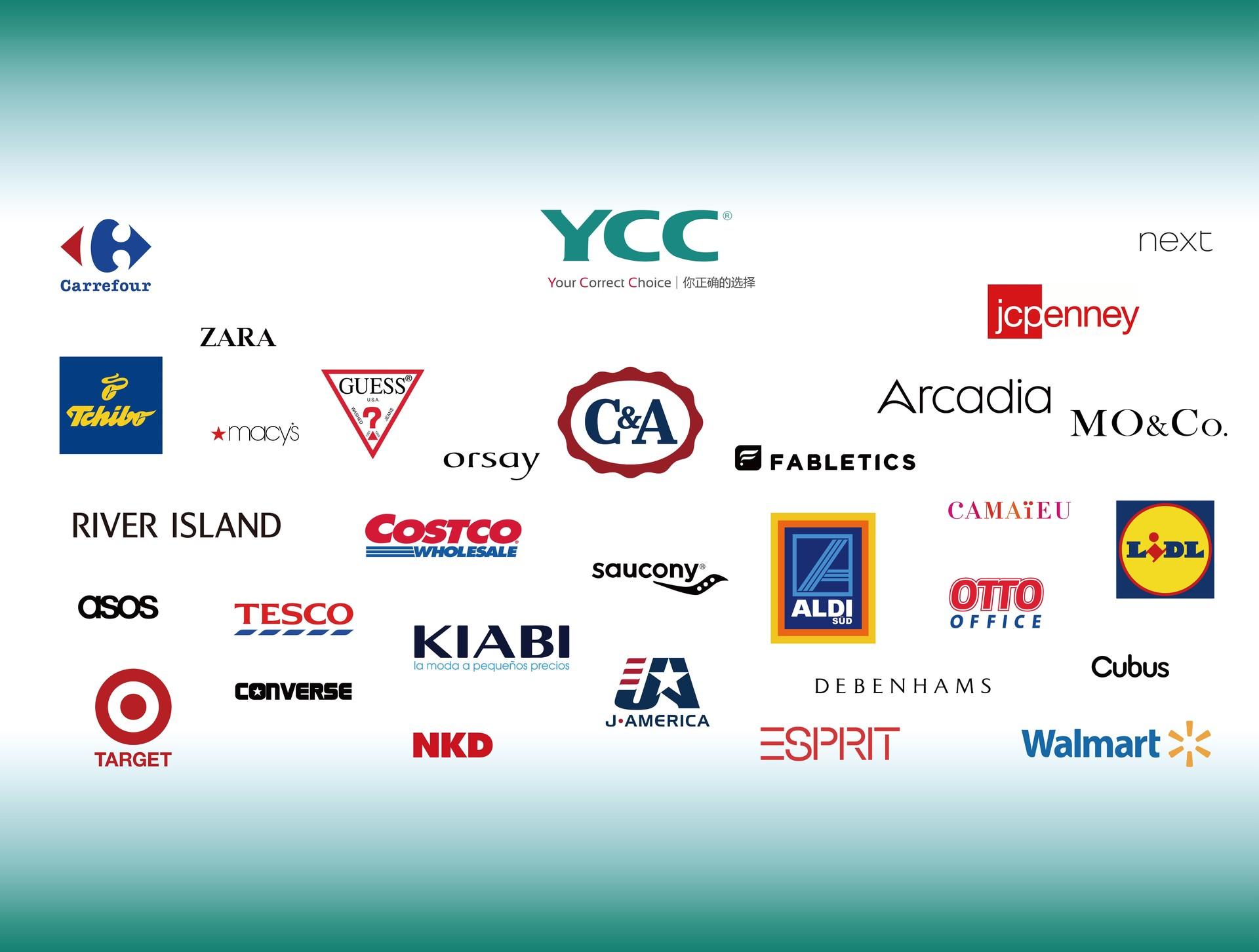 YCC拉链指定品牌