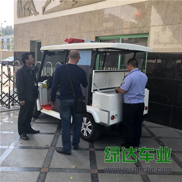 东莞市光明中学向绿达车业采购四轮电动巡逻车