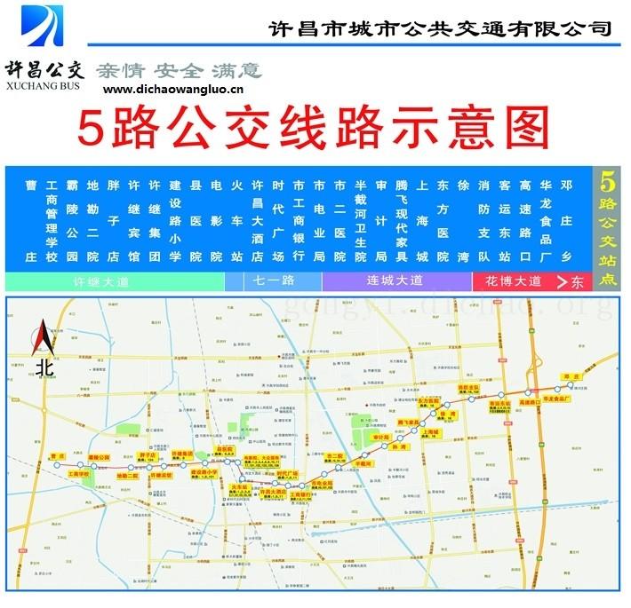 许昌5路公交车线路图