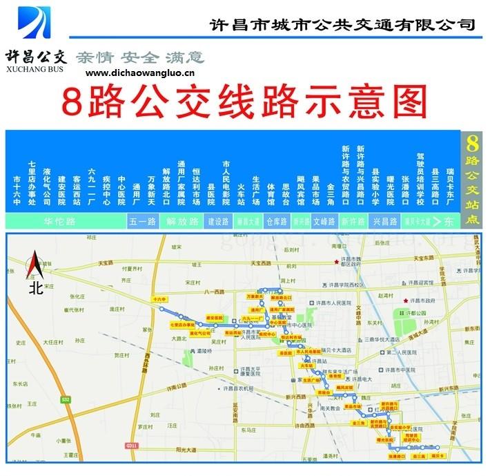 许昌8路公交车线路图