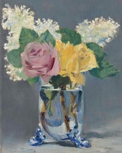 爱德华·马奈《丁香与玫瑰》,1882年