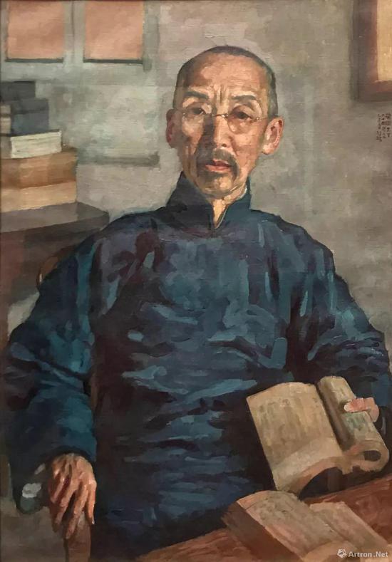 《傅增湘像》 布面油彩 70×49cm 1935年 中国国家图书馆藏