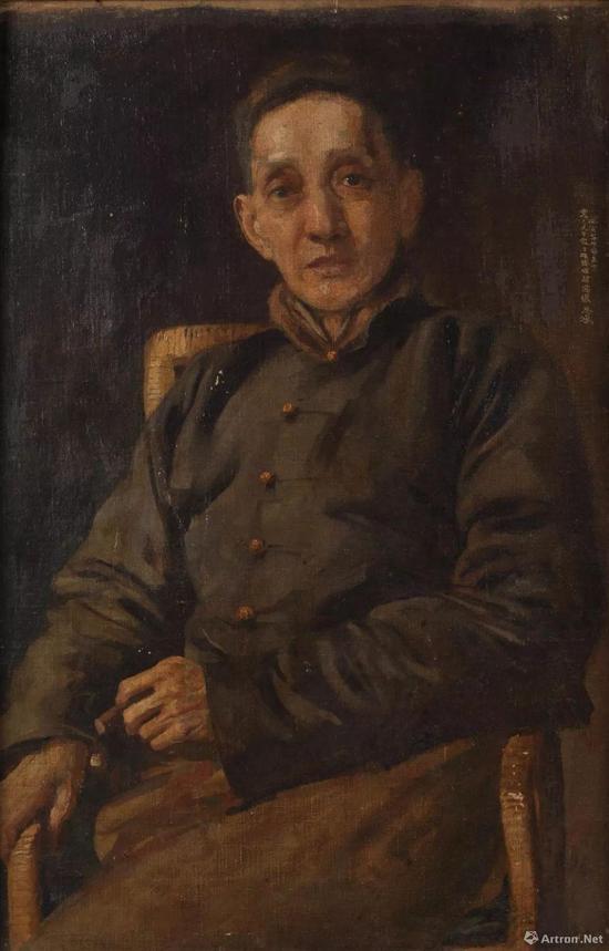 《黄震之像》 布面油彩 84x54cm 1926年 徐悲鸿纪念馆藏