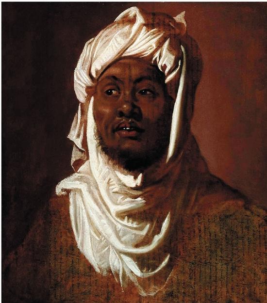 鲁本斯 戴穆斯林头巾的非裔男子 1609年