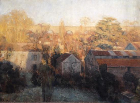 安德烈·布布奈尔 《卢浮仙娜的渡槽》 布面油画 73x100cm