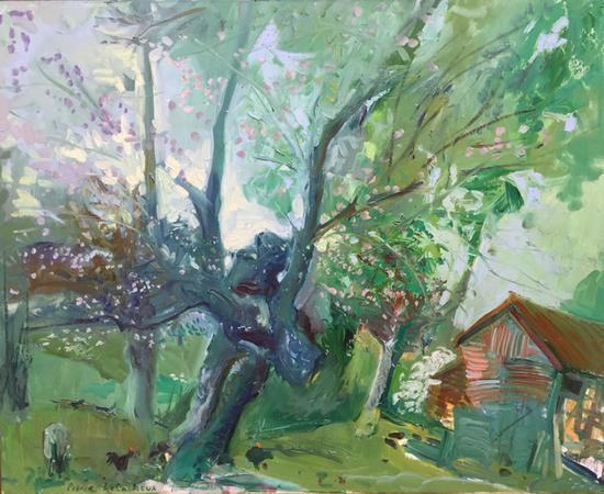 皮埃尔·乐卡什 《诺曼底的乡村》 布面油画 90x80 cm