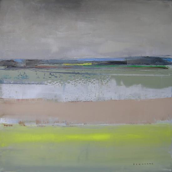 菲利普·德盖讷 《蔬菜地》 布面油画 80×80cm