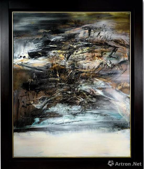 位居现代艺术成交价第二位的赵无极作品 《23.05.64》
