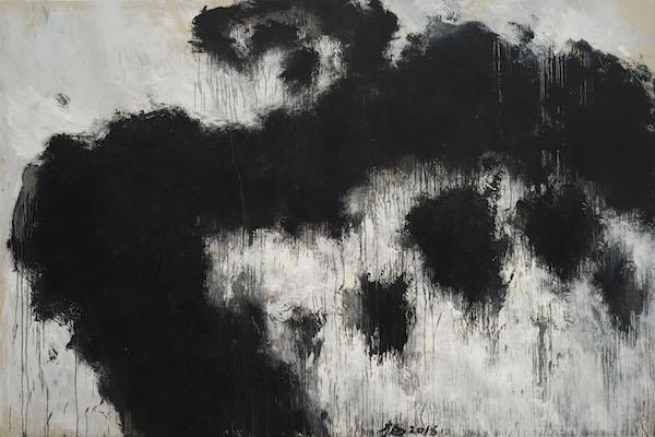 张方白 凝固4号 300x200cm 布面油画 2018年.jpg