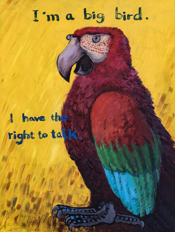 赵斌 我是个大鸟 我有说话权力 1.6 x 1.2 米 2018年.jpg