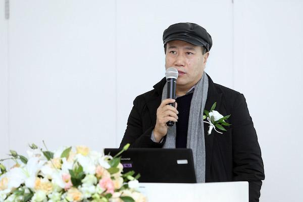 5 参展艺术家代表刘庆和发布会致辞.JPG