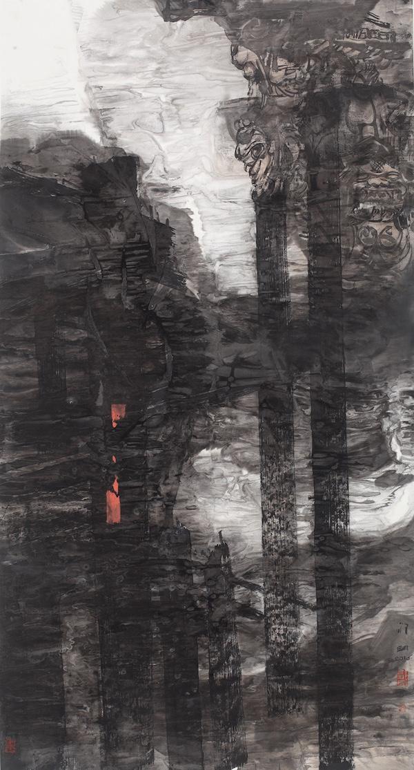 老屋遗韵  180cm×92cm  纸本水墨  2016年.jpg