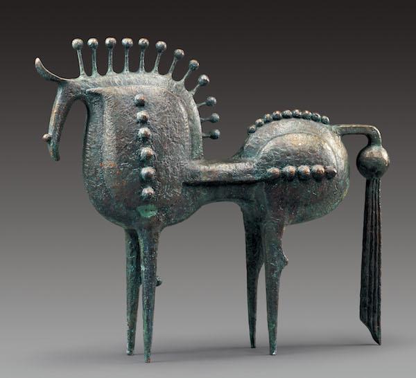 雕塑:《马》,87x17x67cm,青铜,2009年.jpg