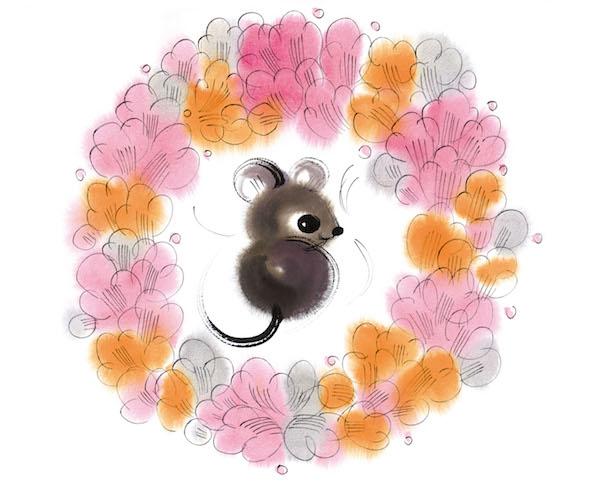 绘画:《鼠》,54x39cm,宣纸,2008年.jpg