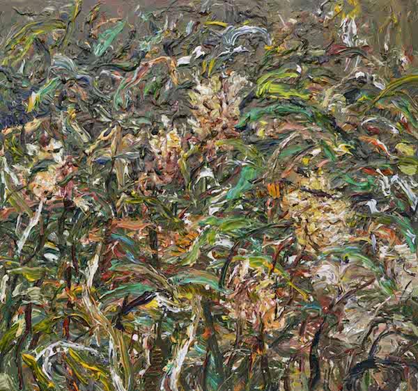3.《叶脉雅黄》Yellow Leave Veins 2015年11月150cm160cm 布面丙烯 Acrylic on canvas (参加法国2016年第108届巴黎秋季艺术沙龙展) (1).jpg