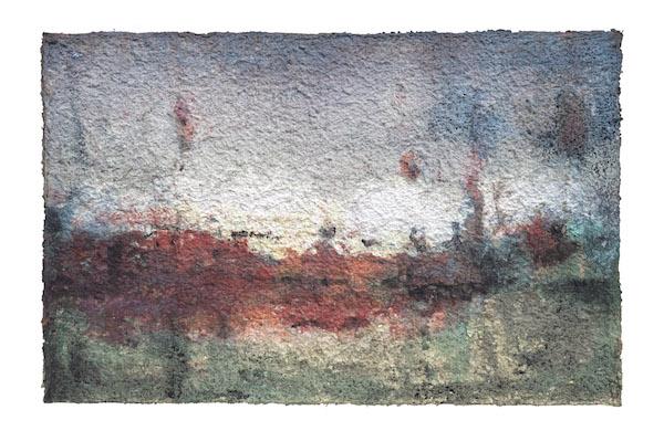 42流景之七 Landscape of Yore 7 纸浆综合材料 Mixed media of Paper 88 x138cm  2011年 周吉荣 副本.JPG