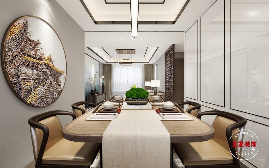 中海文昌公馆85米新中式设计效果图