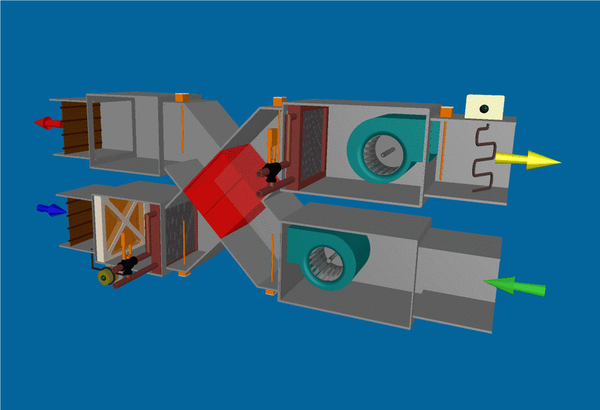 新风热交换器的示意图,回收排风能量2.jpg