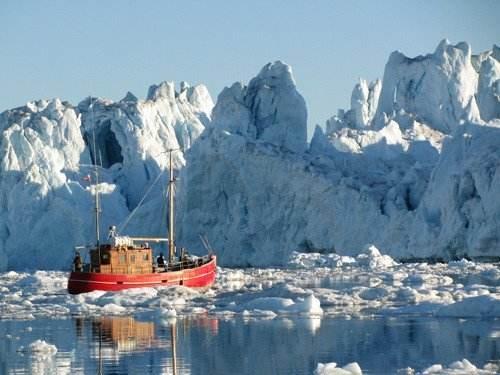 北极冰川融化