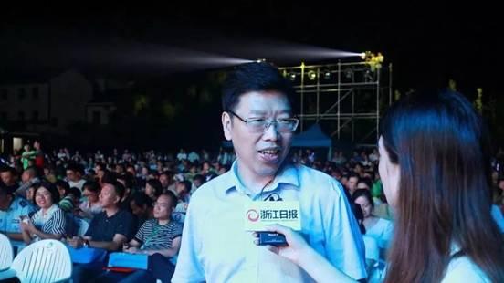 卢春中副厅长接受浙江日报、浙江在线记者采访
