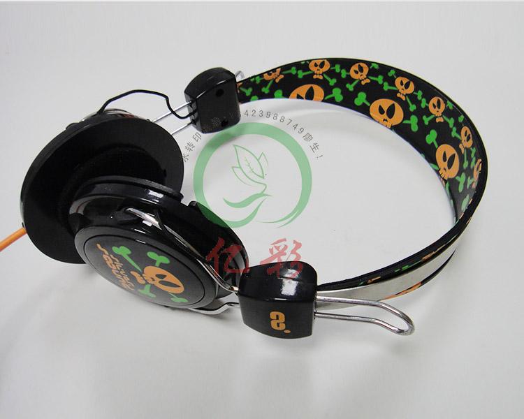 耳机水贴纸加工 热转印加工 蓝牙耳机水转印加工
