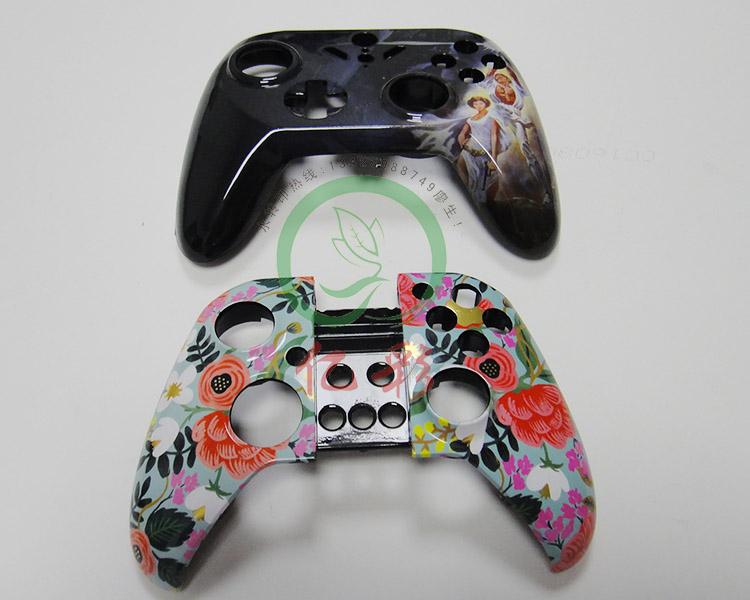 蓝牙游戏手柄PS3/PS4水转印手柄双震动双面板迷彩闪电水彩手柄
