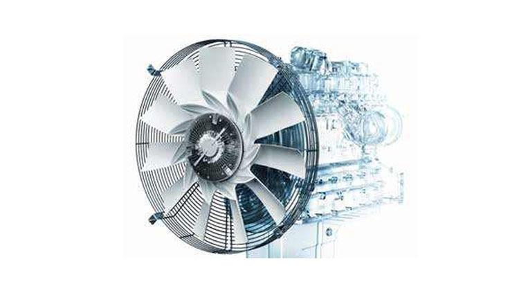 钻井机发动机的风扇图片