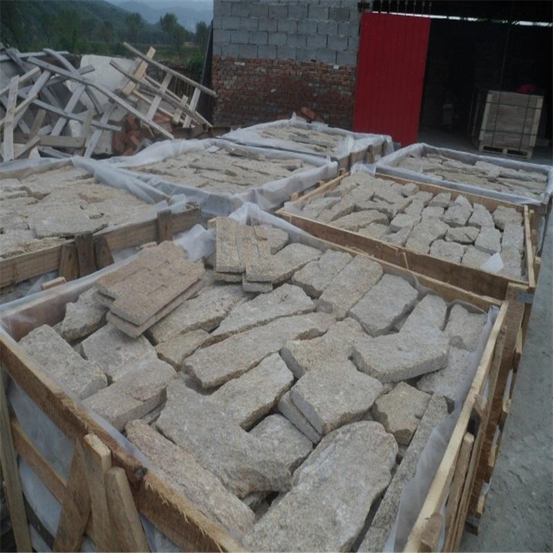 仿古青石板墙面铺装工艺施工图-固强青石板材