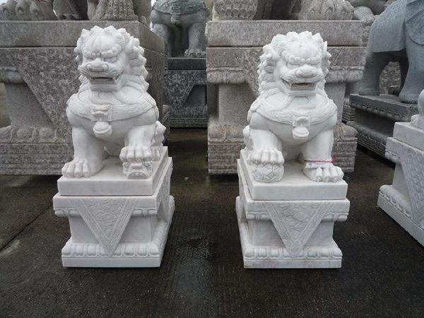 石雕狮子价格大全,附清晰描图-固强青石板材