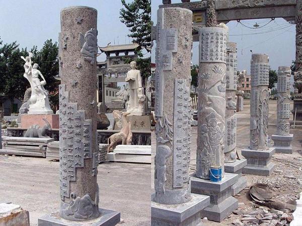 寺庙石雕龙柱的作用价值,详细介绍-固强青石板材