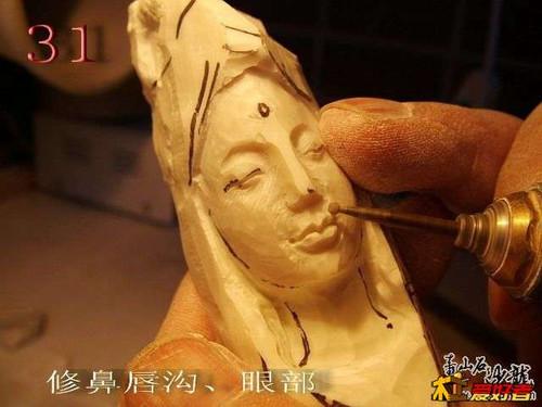 人物石雕雕刻开脸详细教程-固强青石板材