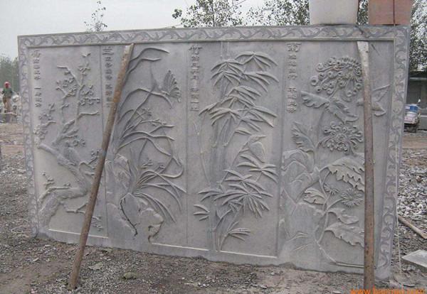 石雕壁画文化墙,含清晰图片-固强青石板材