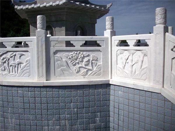 汉白玉栏杆安装步骤-固强青石板材