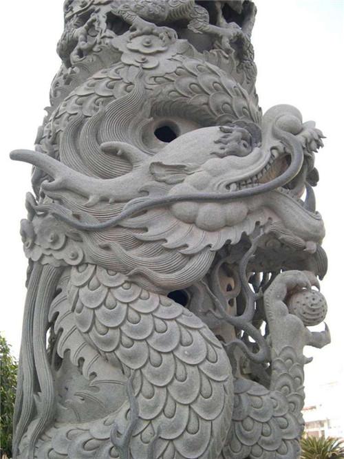 石雕龙柱的雕刻方法-固强青石板材