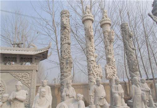石雕龙柱的价格-固强青石板材