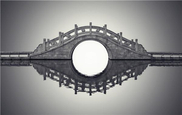 景观小拱石桥高清图片大全-固强青石板