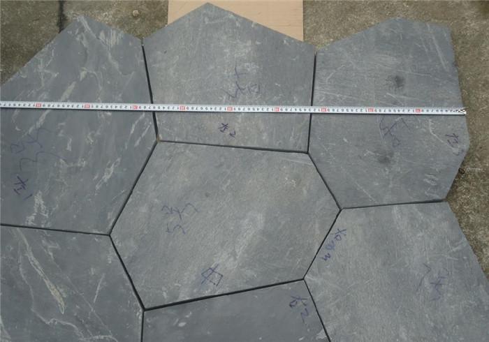 不规则锈色青石板图片-固强青石板材