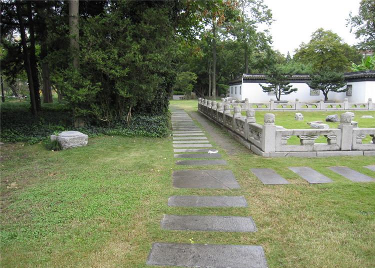 園林青石板汀步路貼圖