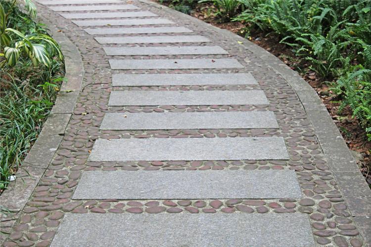 卵石和青石板組合路貼圖