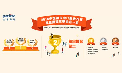 20170907 执行会长单位文思海辉金融连续第四年排名IDC中国银行业CRM解决方案第一.jpg