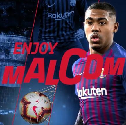 官方:马尔科姆加盟巴塞罗那